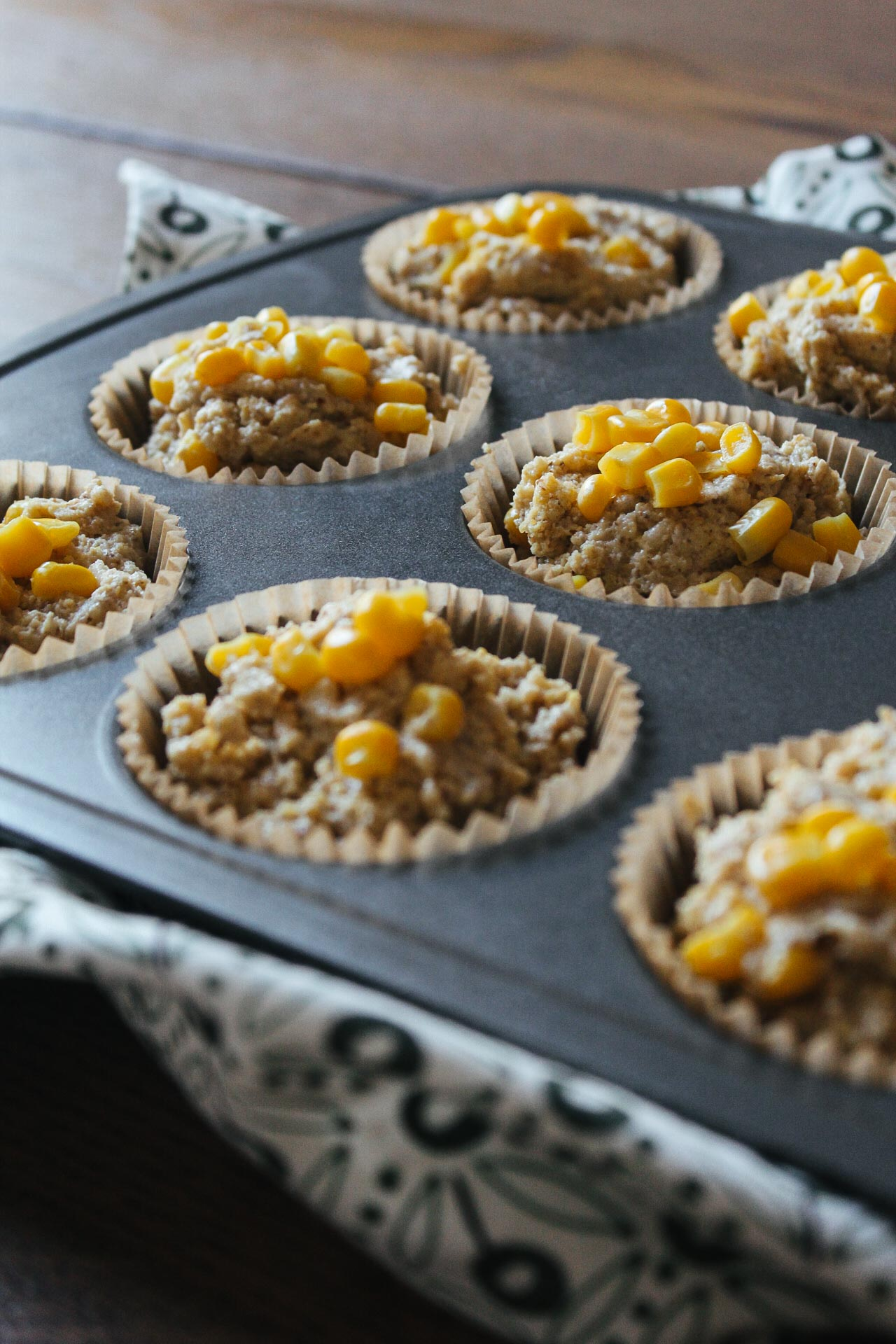 Gluten-Free Cornbread Muffins #vegan #muffins #plant-based #cornbread #recipes #wfpb #wfpbno #mcdougal #bread #side