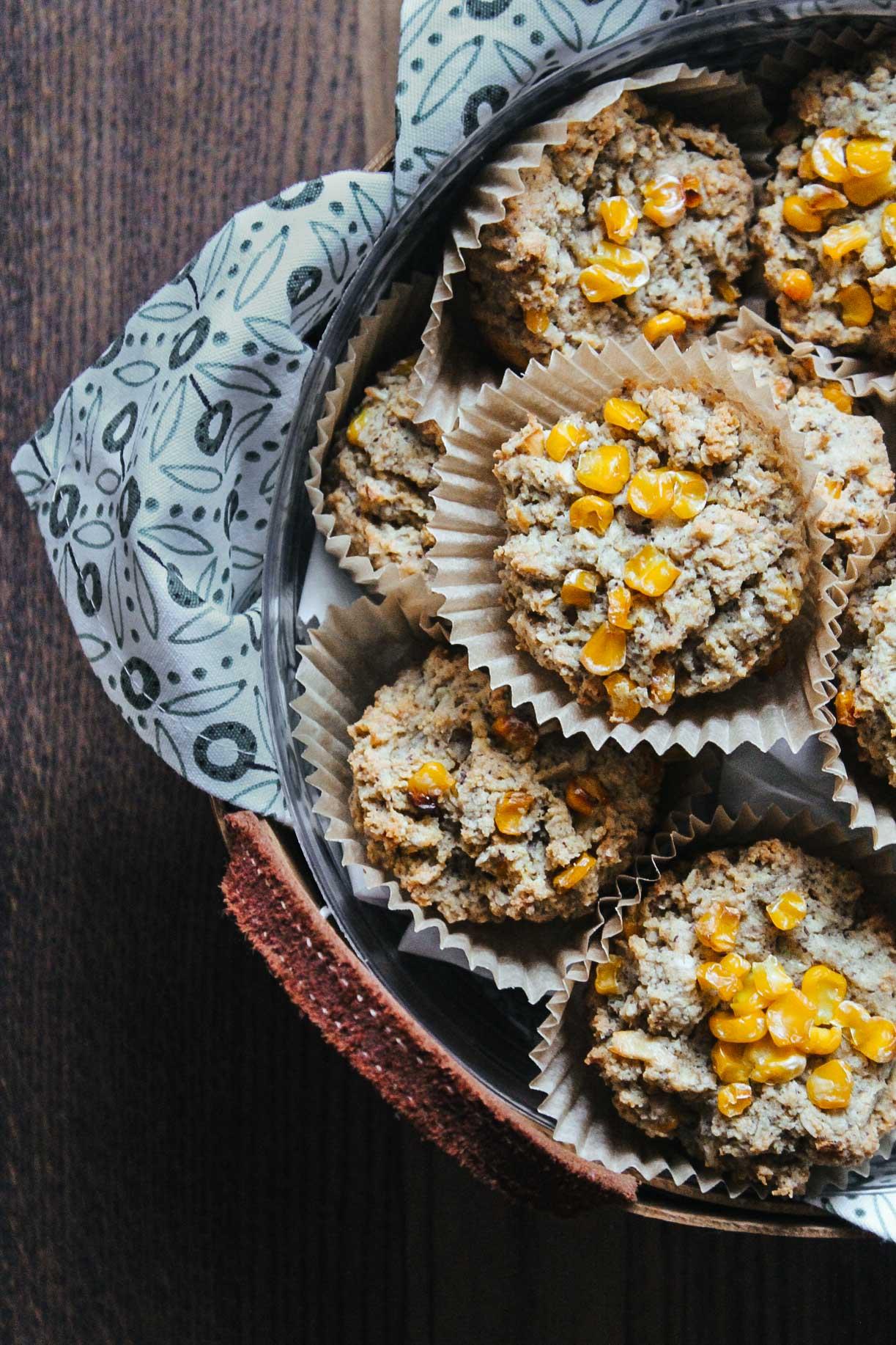 Gluten-Free Cornbread Muffins #gluten-free #vegan #plant-based #cornbread #corn #southern #muffins #recipe #wfpb #wfpbno #Fall #tailgating #thanksgiving #mcdougal #recipes #comfort food