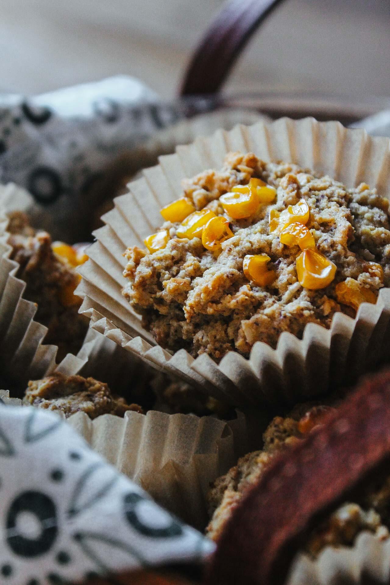 Gluten-Free Cornbread Muffins #wheat-free #bread #vegan #cornbread #football #wfpb #wfpbno #mcdougal #recipes #muffins #side