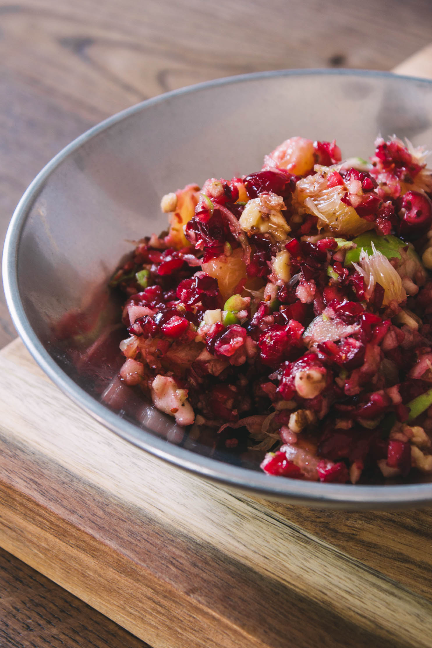1-Bowl Raw Cranberry Fruit Salad #relish #thanksgiving #christmas #fruit salad