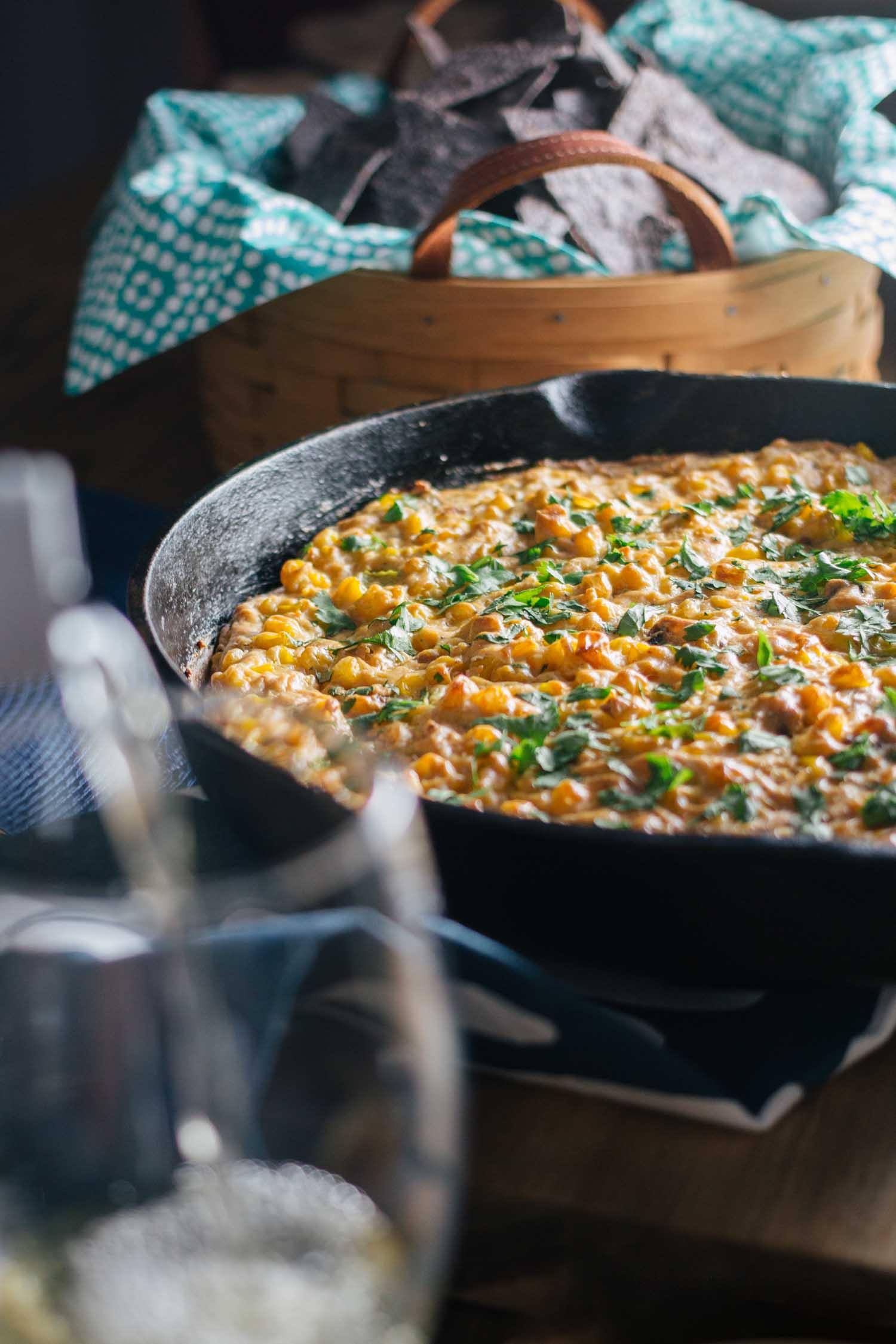 Dairy-Free Cheesy Jalapeño Skillet Dip  #potluck #nutritionalyeast #recipe
