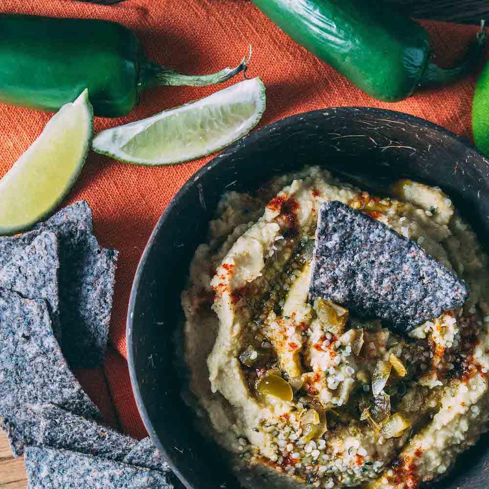 Happy Jalapeno Hemp Seed Hummus #vegan #gluten-free #oil-free | Veeg
