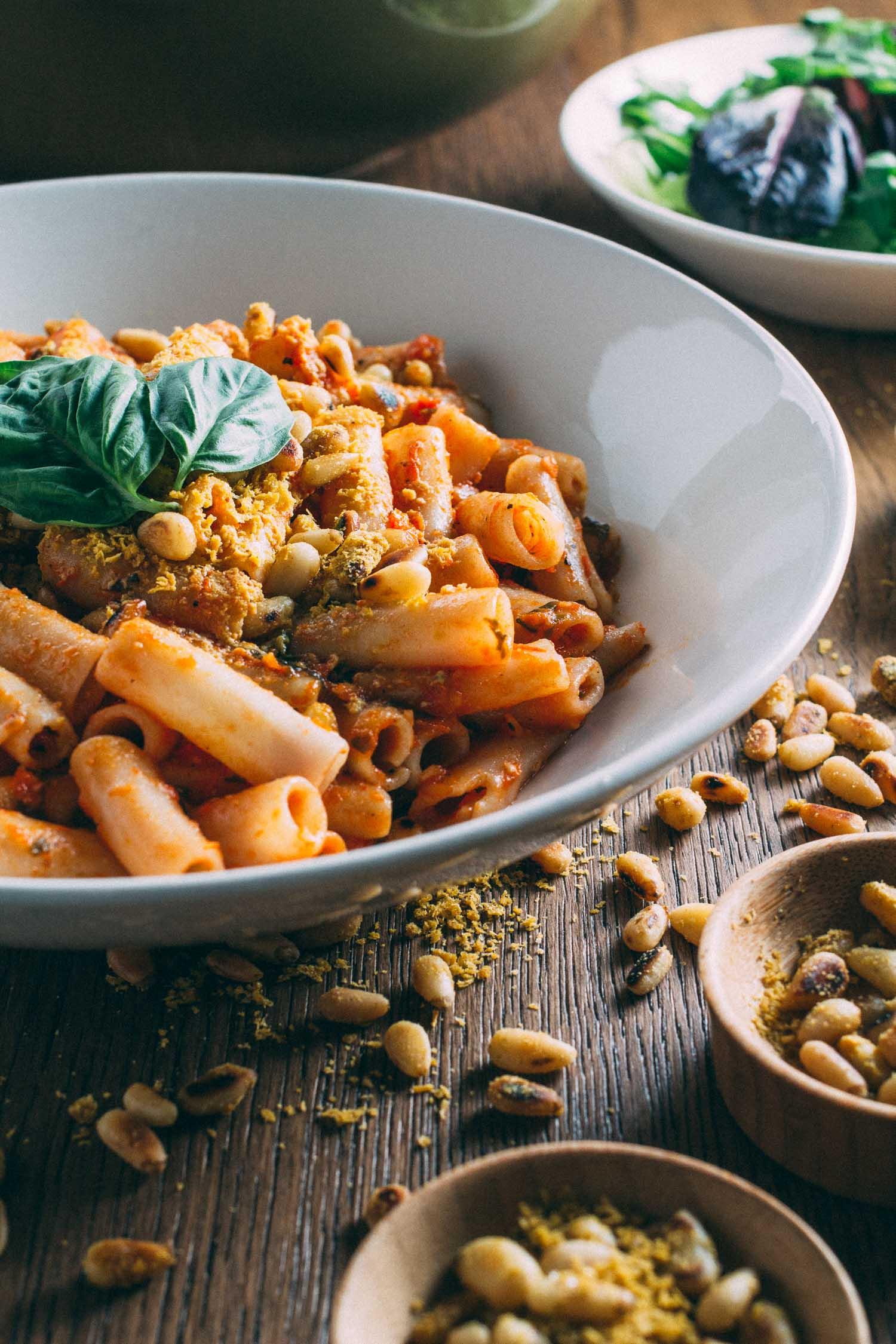 Sun-Dried Tomato Best-o Pesto Pasta #vegan #meatless #monday #recipe