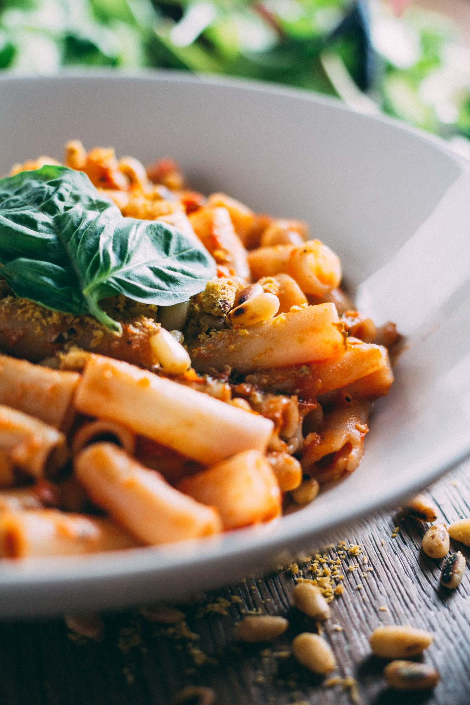 Sun-Dried Tomato Best-o Pesto Pasta #gluten-free #basil #nocook