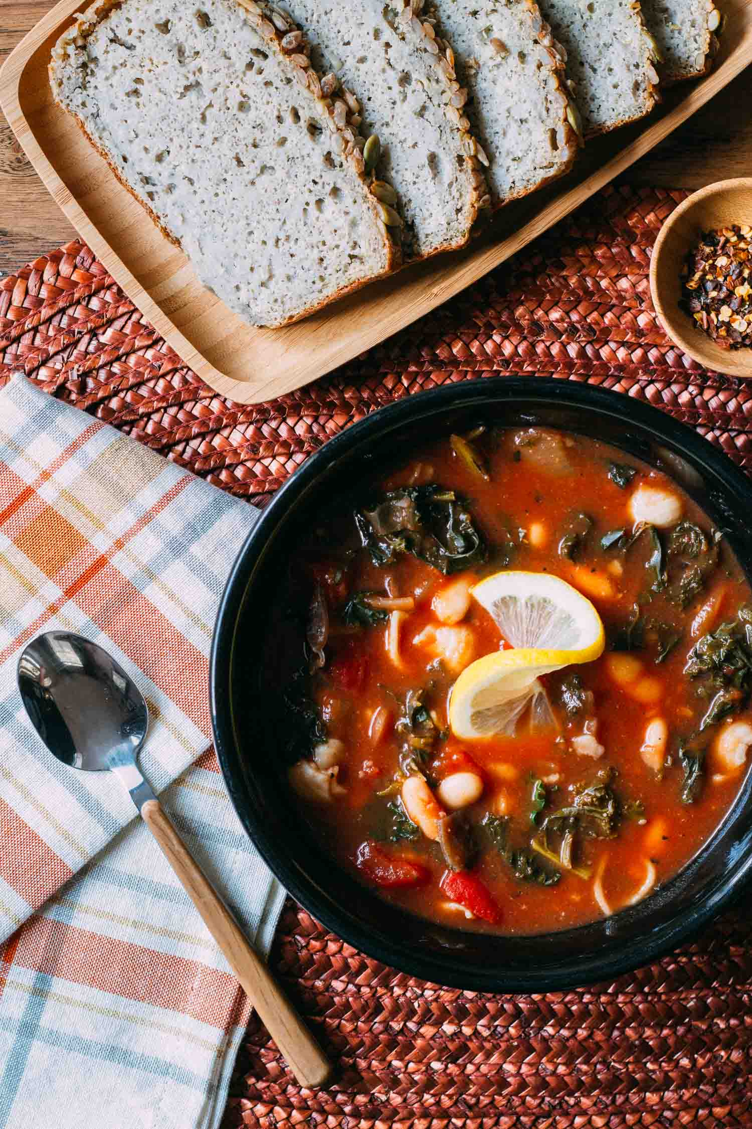 Cannellini Kale Noodle-y Soup #callellini #kale #recipe #soup