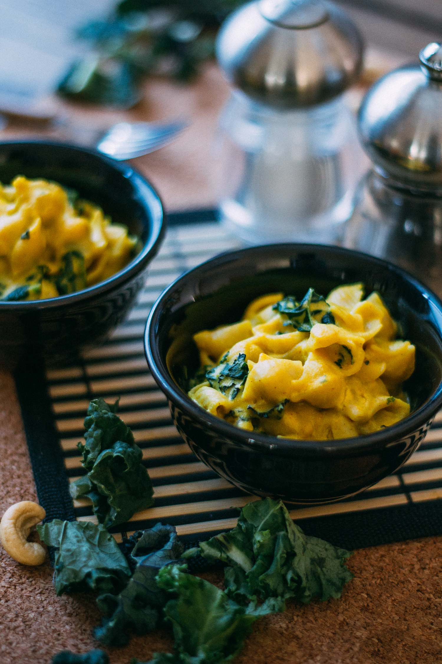 Oil-Free Vegan Kale Mac & Cheese #vegan #dairy-free #nondairy #plant-based