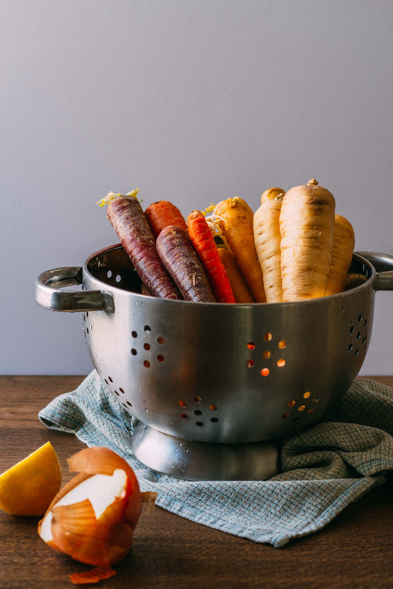 Roasted Rainbow Carrot Rounds #vegan #vegetarian #recipe #oil-free