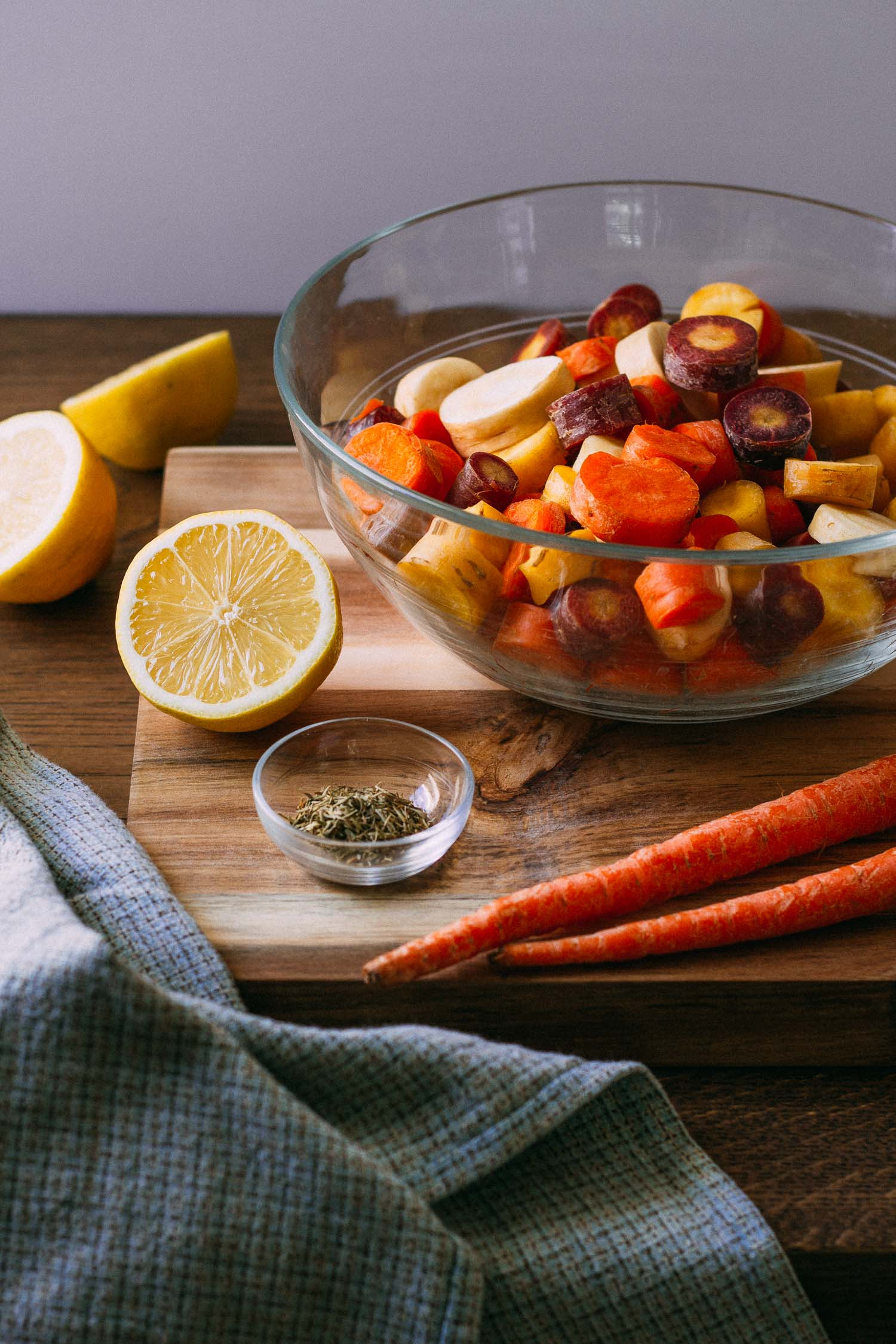 Roasted Rainbow Carrot Rounds #carrots #roasted #vegetables