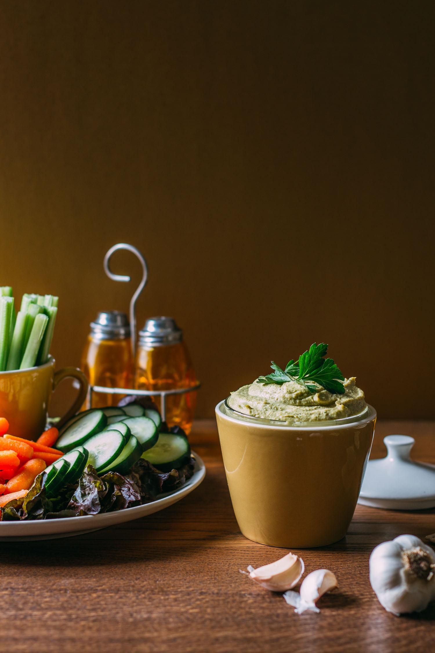 Parsley & Thyme Cashew Cream Cheese #non-dairy #vegan #cashews #thyme #wfpbno