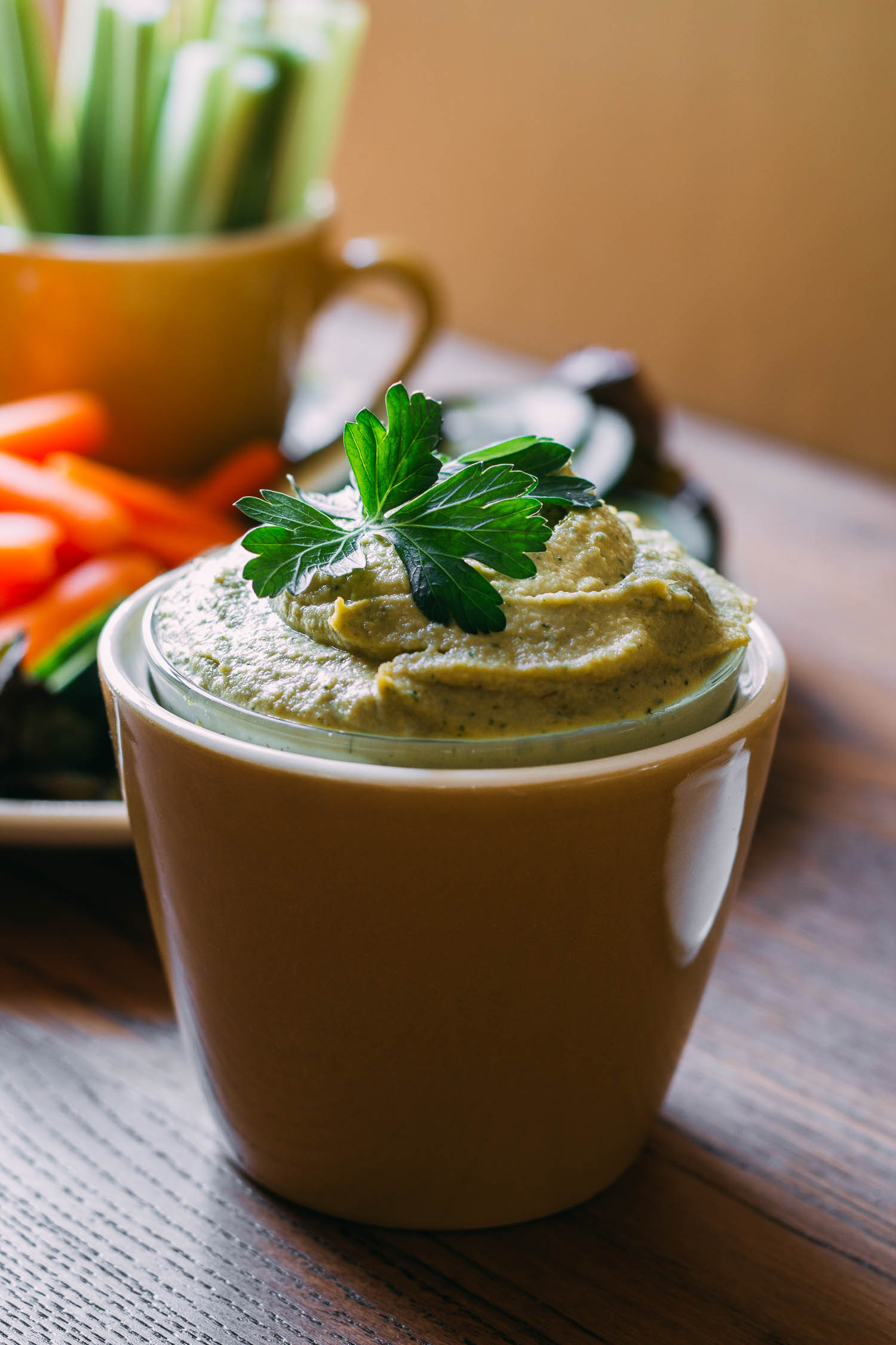 Parsley & Thyme Cashew Cream Cheese #recipe #spread #dip #sauce #nuts