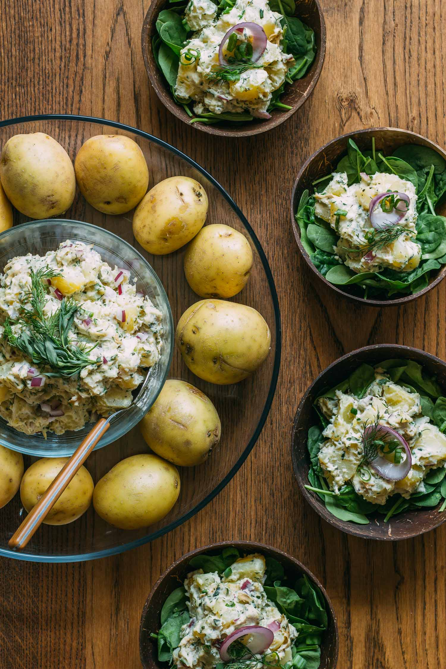 Tarragon Dill Potato Salad #potato #salad #recipe #4th #July #wfpb #vegan