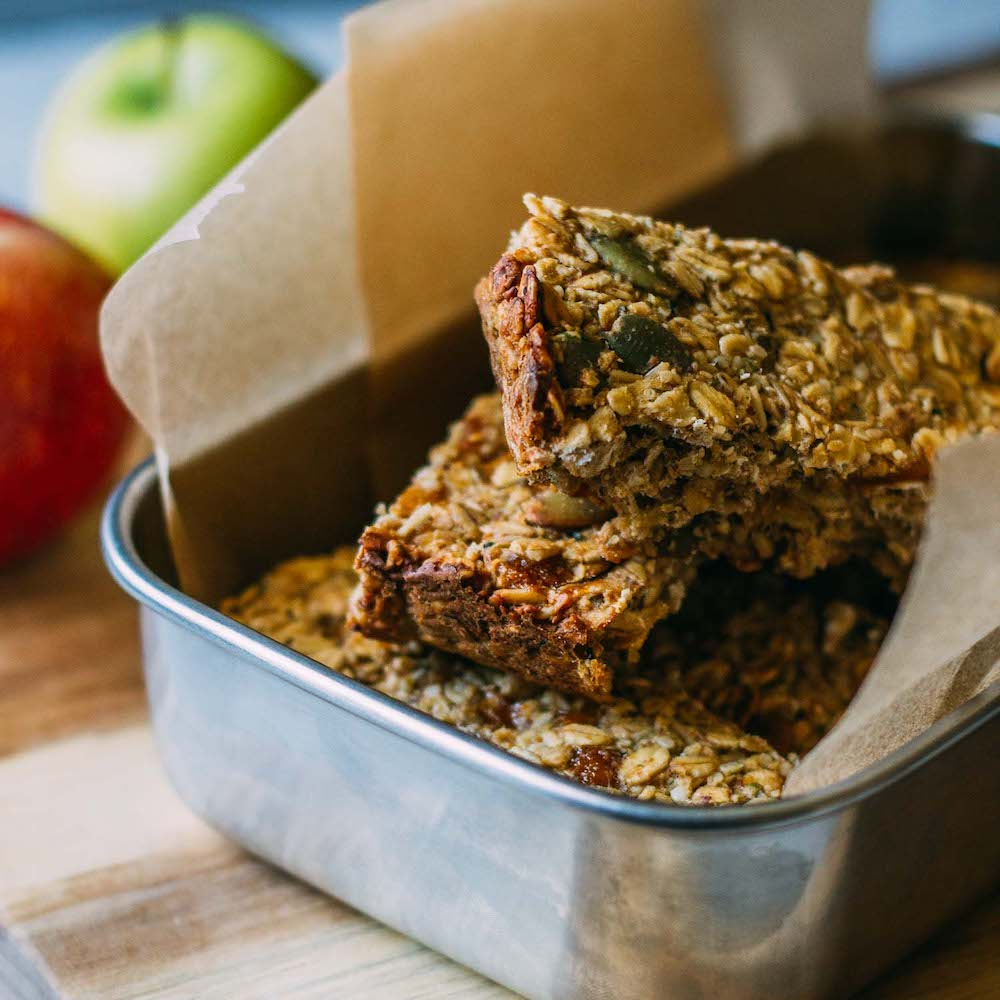 Tahini Mango Granola Bars #granola-bars #recipe #apple #fall #healthy #snacks #protein #wfpb