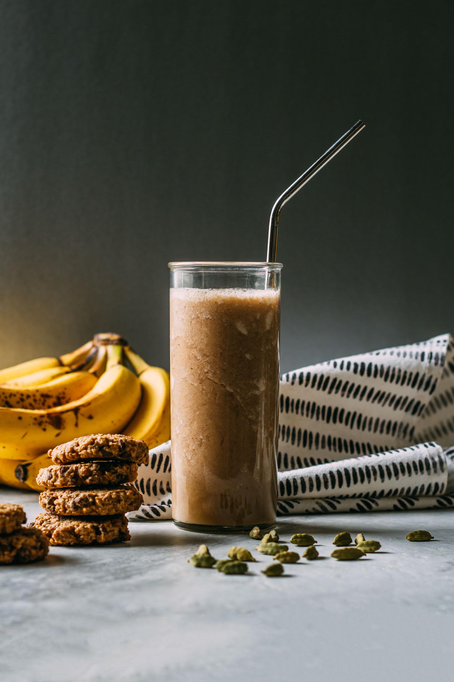 Creamy Cardamom Banana Milk #banana #milk #cardamom #cinnamon #vegan #plant-based #wfpb #beverage #wfpbno #recipes