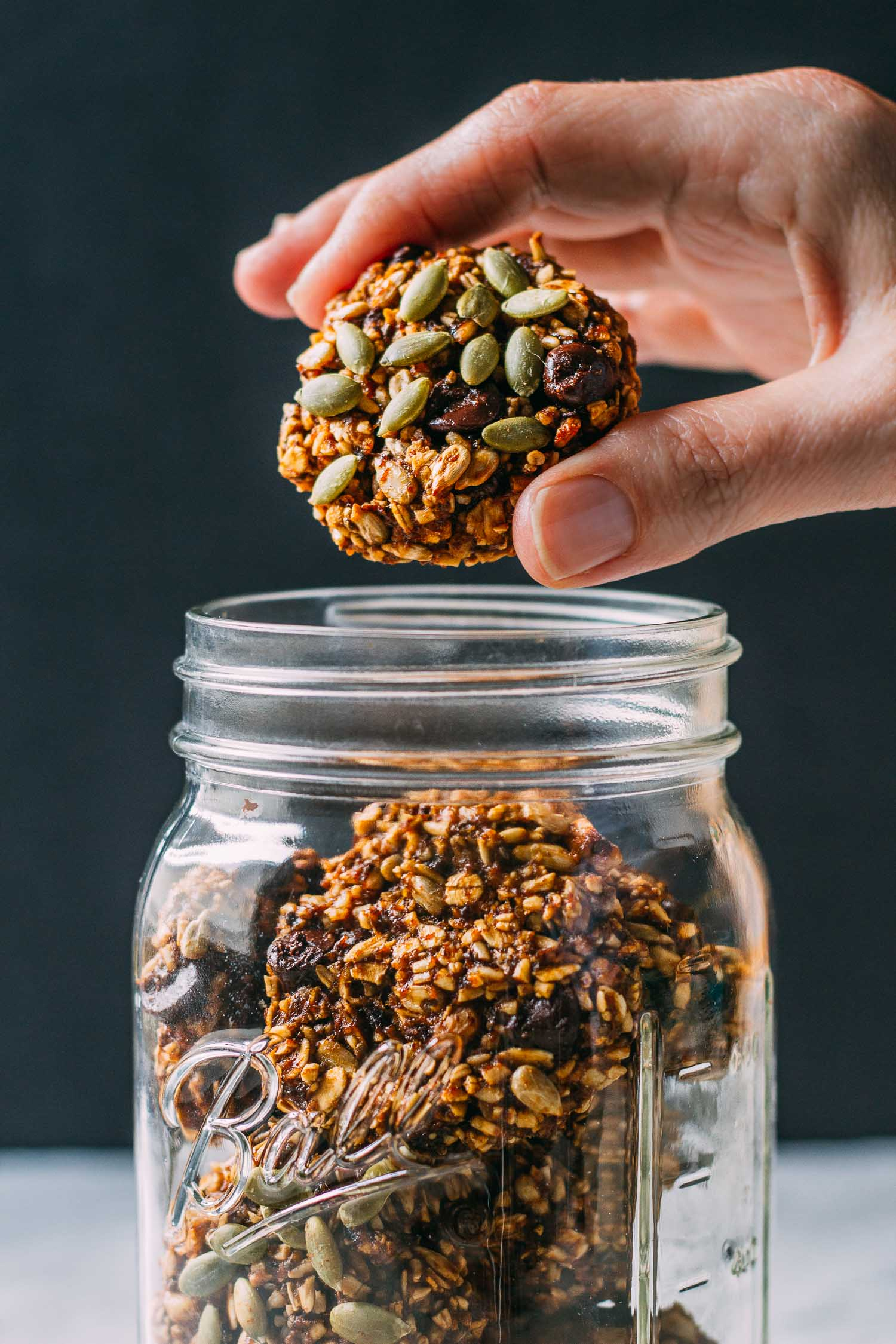Pumpkin Power Breakfast Worthy Cookies #gluten-free #vegan #wfpb #wfpbno #plant-based #recipe #recipes #cookies #breakfast #cookie #pumpkin #dessert #walnuts #flax #healthy #make-ahead #snack #treat #lunch #fall #thanksgiving #halloween #sunflower #seeds #plums #prunes