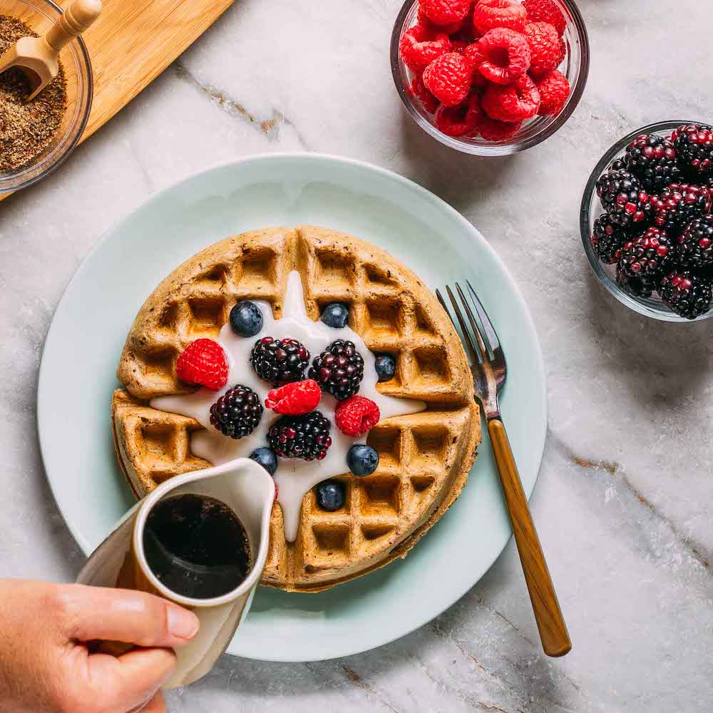best ever, vegan, gluten free, plant based waffles | Veeg