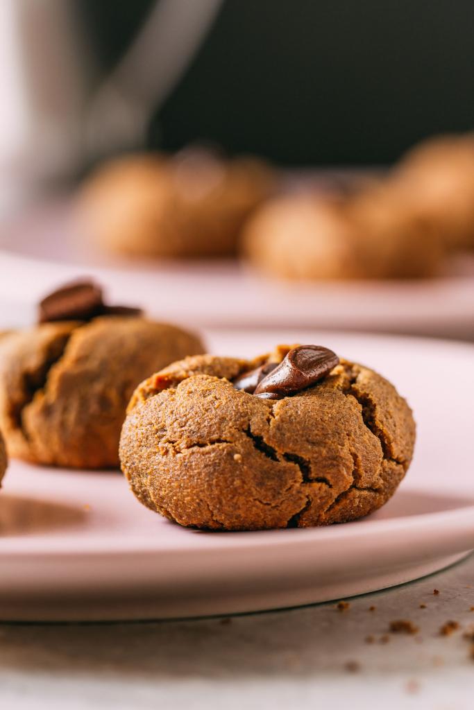 Peanut Butter & Chocolate Cookies  #peanutbutter #cookies #recipes #cleaneating #diet #eat #healthy #food #vegan #vegetarian #recipes #veggie #dairyfree #plantbased #glutenfree #eatclean #sugarfree #recipe #fok #mcdougall #wfpb #wfpbno #oilfree #enjoylife #chocolate #chips #maplesyrup #dates  #flourless #chickpeas #aquafaba