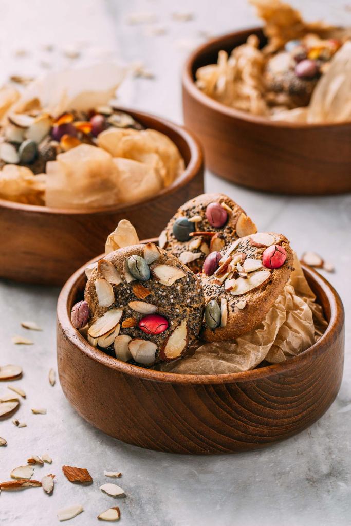 Chewy Almond Lemon Bird's Nest Cookies  #chewy #almond #lemon #birdsnest #cookies #cookie #tahini #oilfree #cleaneating #diet #eat #healthy #food #vegan #vegetarian #recipes #veggie #dairyfree #plantbased #glutenfree #eatclean #sugarfree #recipe #wheatfree #wfpb #wfpbno #fok #mcdougall #Easter #spring #babyshower #vegansnacks #treats #dessert #Unreal