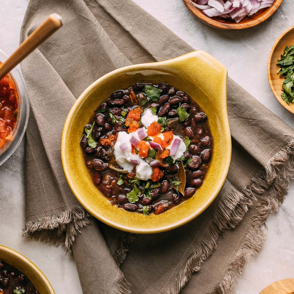 Instant Pot Black Bean Soup 3 Ways | Veeg