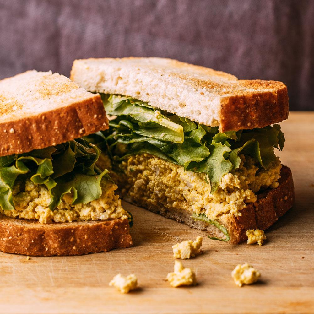 Vegan Tofu Egg Salad Sandwich Gluten-Free | Veeg
