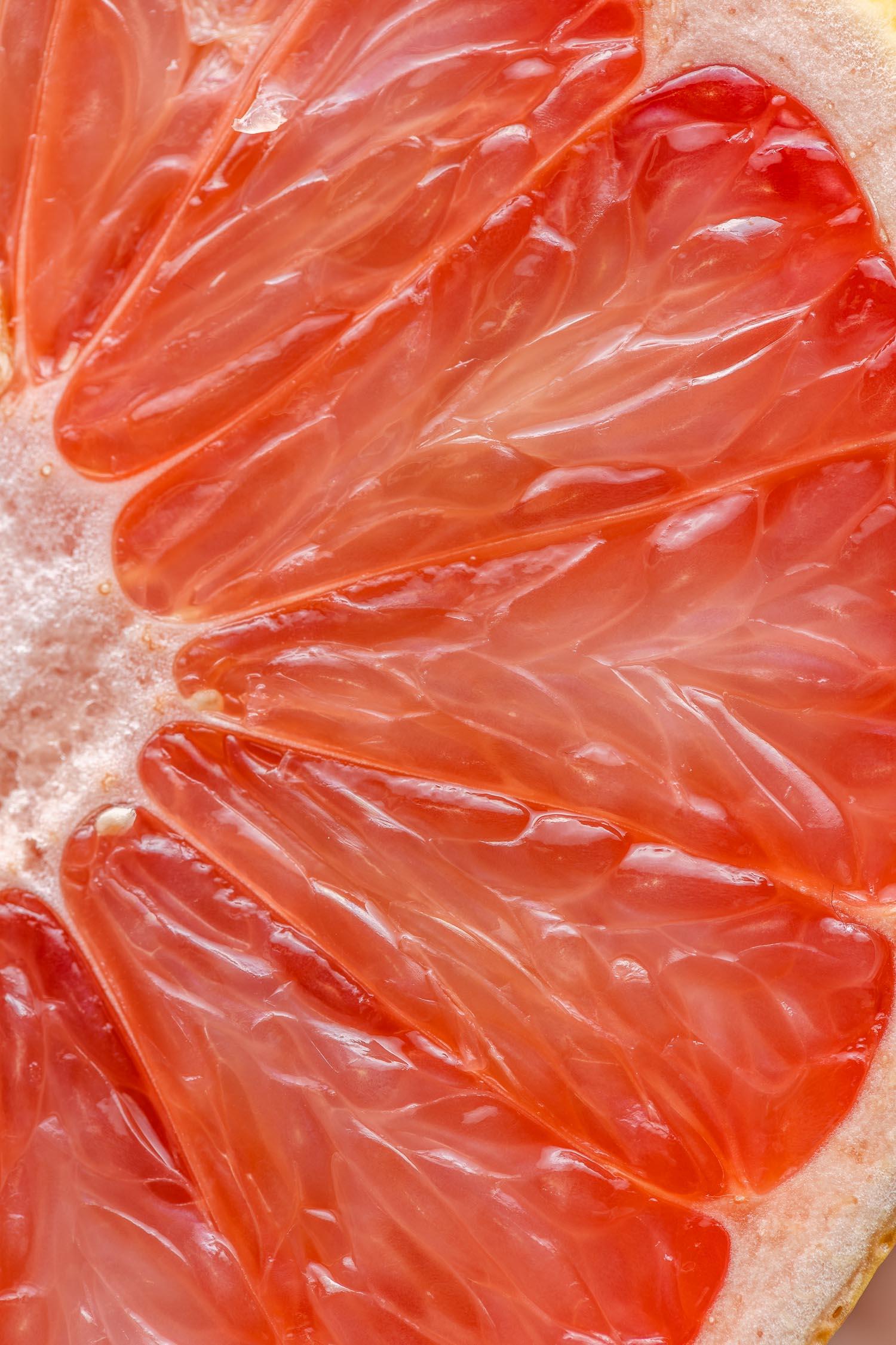 juicy pink grapefruit