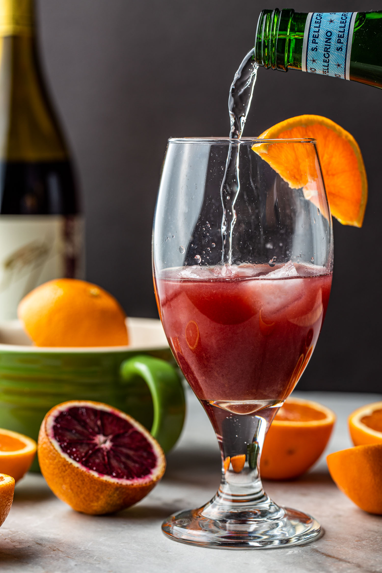 orange juice and wine spritzer cocktail