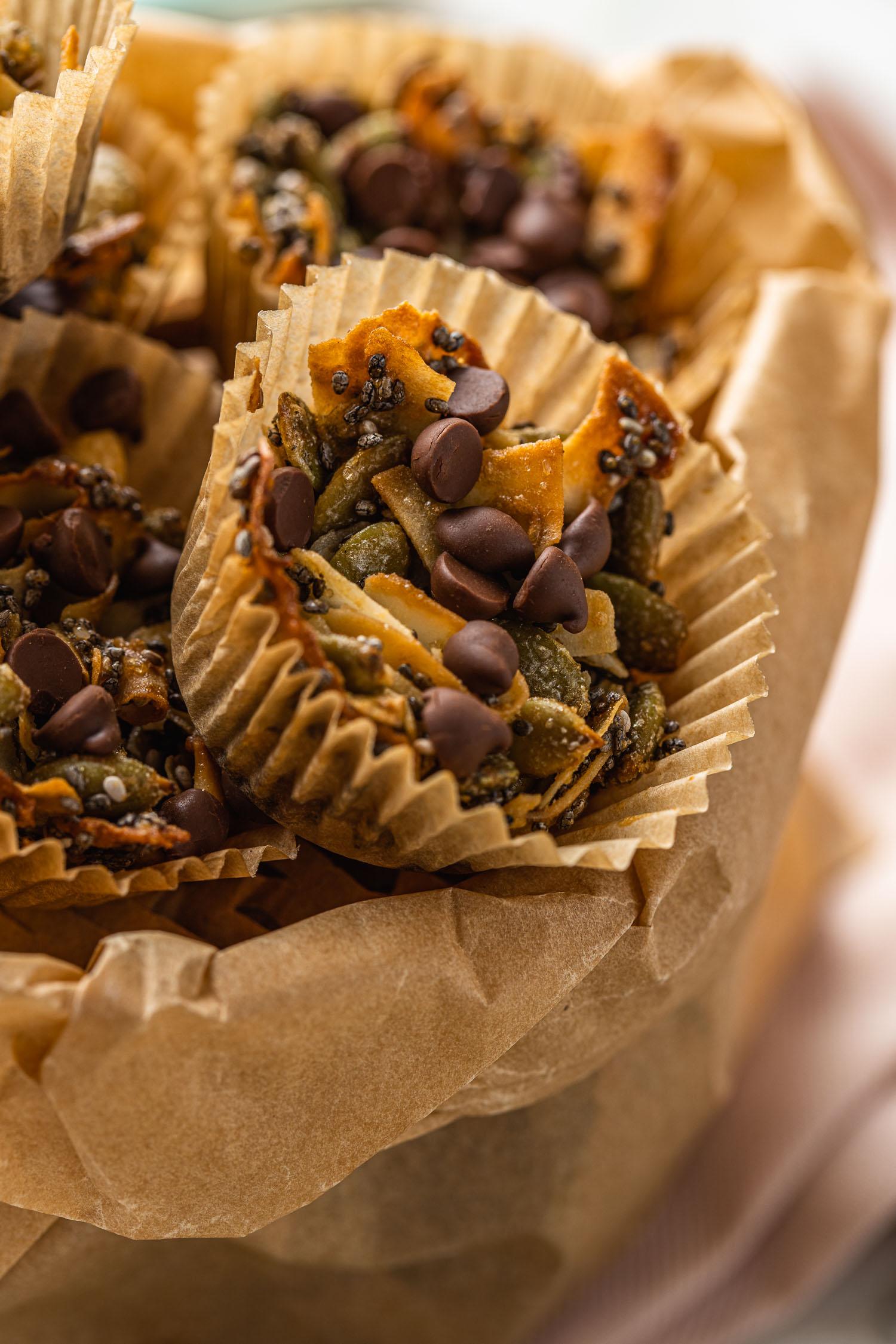 crunchy coconut clusters, vegan, gluten free