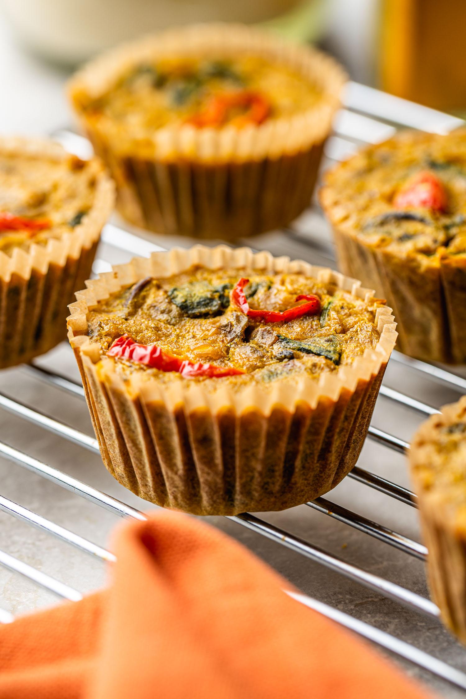 eggless muffins, vegan, gluten free, oil free